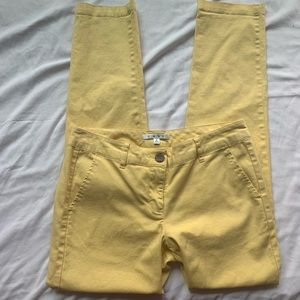 Cabi Yellow Sunshine Skinny Jeans Size 4